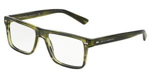 Dolce & Gabbana DG3227 2926 STRIPED OLIVE GREEN