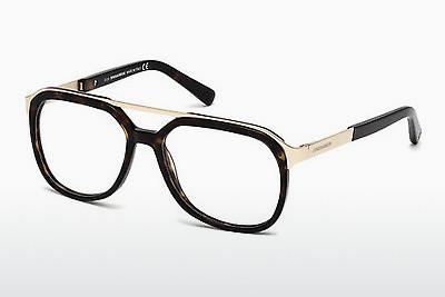 Occhiali design Dsquared DQ5190 052 - Marrone, Dark, Havana