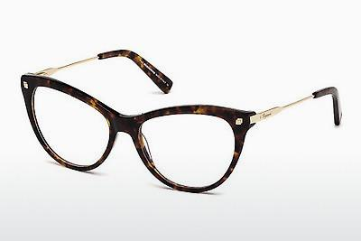 Lunettes design Dsquared DQ5195 055 - Multicolores, Brunes, Havanna