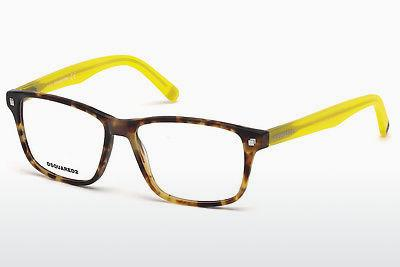 Lunettes design Dsquared DQ5200 055 - Multicolores, Brunes, Havanna