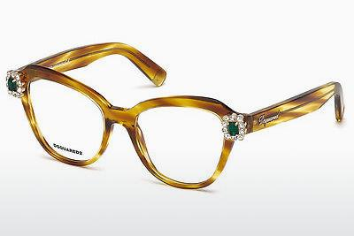 Occhiali design Dsquared DQ5212 047 - Marrone, Bright