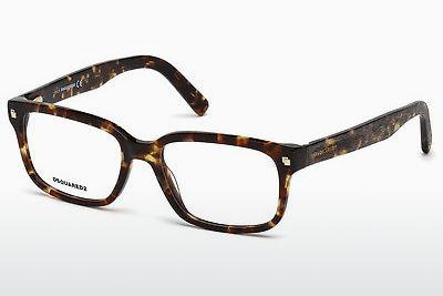 Lunettes design Dsquared DQ5216 055 - Multicolores, Brunes, Havanna