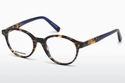 Occhiali design Dsquared DQ5227 055 - Multicolore, Marrone, Avana
