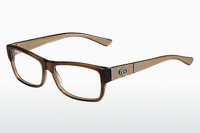 Lunettes design Gucci GG 3133 MH5 - Brunes, Or