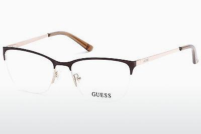 Lunettes design Guess GU2543 045 - Brunes, Bright, Shiny