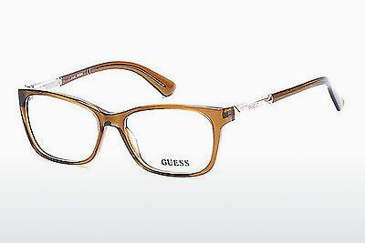 Lunettes design Guess GU2561 045 - Brunes, Bright, Shiny
