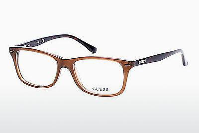 Lunettes design Guess GU2579 045 - Brunes, Bright, Shiny