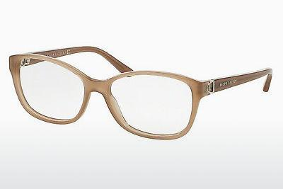 Lunettes design Ralph Lauren RL6136 5538 - Blanches, Taupe