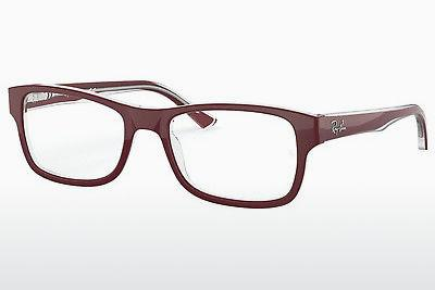 Designerbrillen Ray-Ban RX5268 5738 - Rot, Transparent