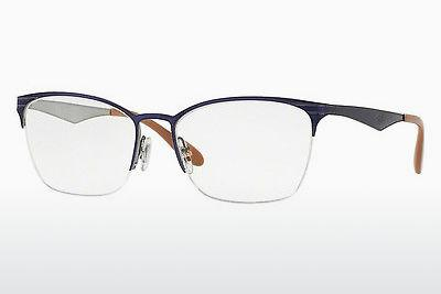 Lunettes design Ray-Ban RX6345 2918 - Bleues