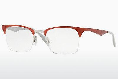 Designerbrillen Ray-Ban RX6360 2921 - Silber, Rot