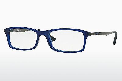 Lunettes design Ray-Ban RX7017 5393 - Bleues