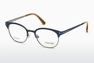 Lunettes design Tom Ford FT5382 090 - Bleues, Shiny