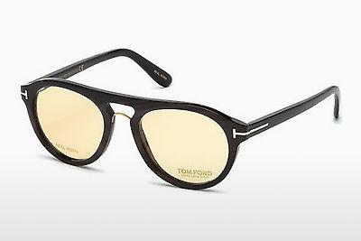 Occhiali design Tom Ford FT5438-P 64E - Corno, Horn, Brown