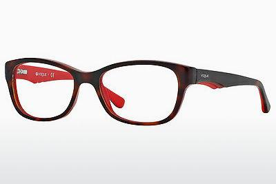 Lunettes design Vogue VO2814 2105 - Brunes, Havanna, Rouges