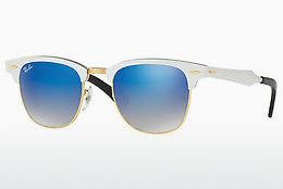 Lunettes de soleil Ray-Ban CLUBMASTER ALUMINUM (RB3507 137/7Q) - Blanches