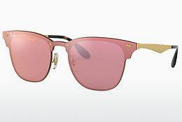 Sonnenbrille Ray-Ban Blaze Clubmaster (RB3576N 043/E4) - Rosa, Gold