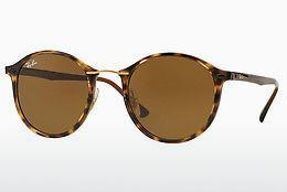 Lunettes de soleil Ray-Ban Round Ii Light Ray (RB4242 710/73) - Brunes, Havanna