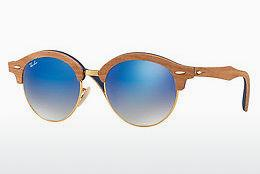 Lunettes de soleil Ray-Ban Clubround Wood (RB4246M 11807Q) - Or