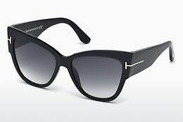 Sonnenbrille Tom Ford Anoushka (FT0371 01B) - Schwarz, Shiny
