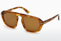 Lunettes de soleil Tom Ford FT0634 53E - Jaunes, Brunes, Havanna