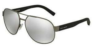 Dolce & Gabbana DG2147 12766G LIGHT GREY MIRROR SILVERGREY RUBBER