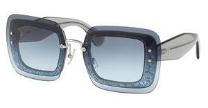 Miu Miu MU 01RS UES4R2 BLUE GRADIENTTRANSPARENT GREY GLITTER