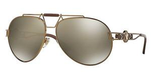 Versace VE2160 13485A LIGHT BROWN MIRROR DARK GOLDBRONZE