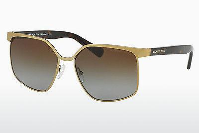 Lunettes de soleil Michael Kors AUGUST (MK1018 1145T5) - Or, Brunes, Havanna