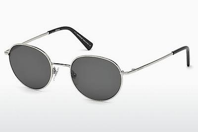 Sonnenbrille Mont Blanc MB550S 16N - Silber, Shiny, Grey