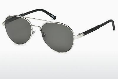 Sonnenbrille Mont Blanc MB587S 16D - Silber, Shiny, Grey