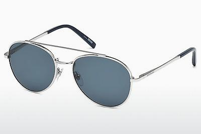 Sonnenbrille Mont Blanc MB605S 16V - Silber, Shiny, Grey