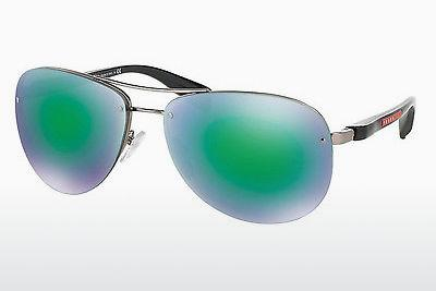 Sonnenbrille Prada Sport PS 56MS (65) (PS 56MS 5AS1M2) - Silber, Pewter