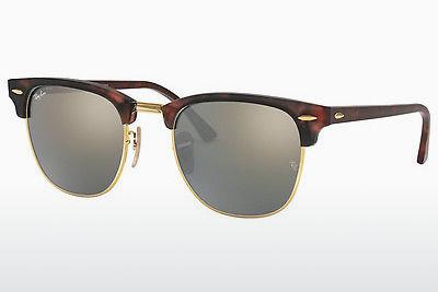 Lunettes de soleil Ray-Ban CLUBMASTER (RB3016 114530) - Sand, Brunes, Havanna, Or