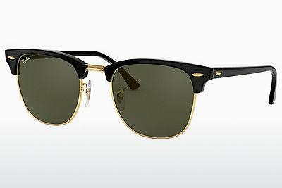 Lunettes de soleil Ray-Ban CLUBMASTER (RB3016 W0365) - Noires, Or