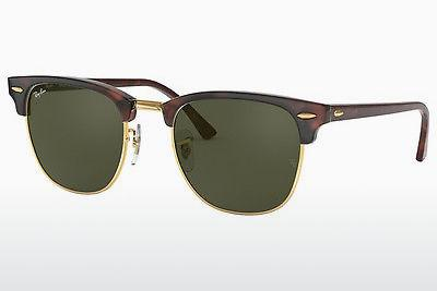 Lunettes de soleil Ray-Ban CLUBMASTER (RB3016 W0366) - Brunes, Tortue