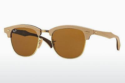 Sonnenbrille Ray-Ban CLUBMASTER (M) (RB3016M 1179) - Braun, Maple