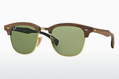 Sonnenbrille Ray-Ban CLUBMASTER (M) (RB3016M 11824E) - Braun, Walnut