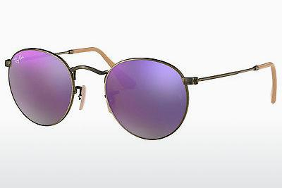 Occhiali da vista Ray-Ban ROUND METAL (RB3447 167/4K) - Marrone