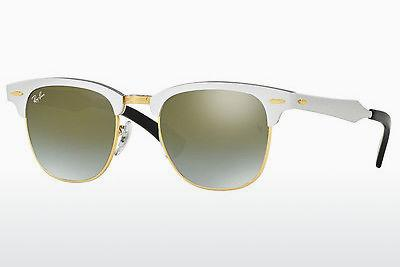 Sonnenbrille Ray-Ban CLUBMASTER ALUMINUM (RB3507 137/9J) - Weiß