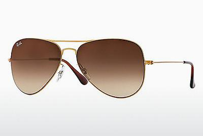 Lunettes de soleil Ray-Ban AVIATOR FLAT METAL (RB3513 149/13) - Or, Sand