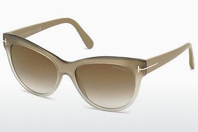 Sonnenbrille Tom Ford Lily (FT0430 59G) - Horn, Beige, Brown