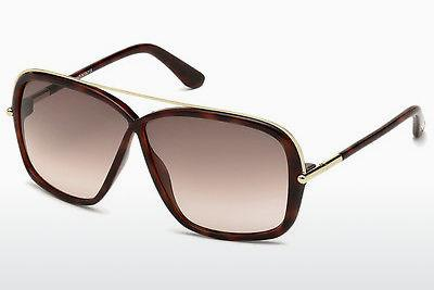 Sonnenbrille Tom Ford Brenda (FT0455 52F) - Braun, Dark, Havana