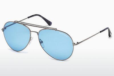 Sonnenbrille Tom Ford Indiana (FT0497 14V) - Grau, Shiny, Bright