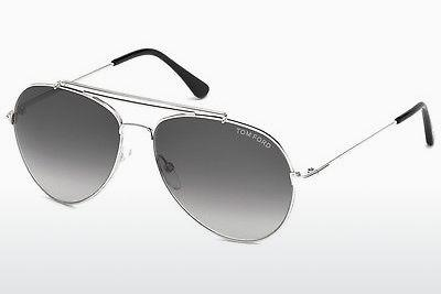Sonnenbrille Tom Ford Indiana (FT0497 18B) - Silber, Shiny