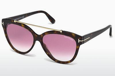Sonnenbrille Tom Ford Livia (FT0518 52Z) - Braun, Dark, Havana