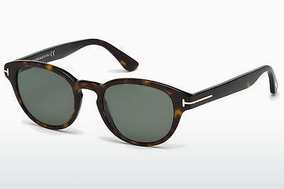 Lunettes de soleil Tom Ford Von Bulow (FT0521 52N) - Brunes, Dark, Havana