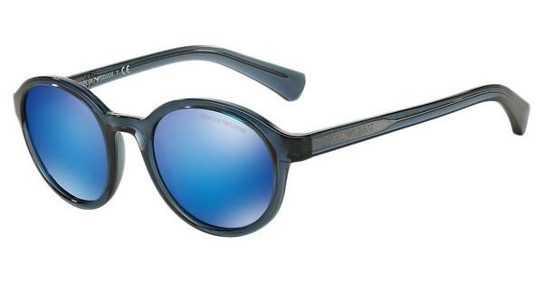 Emporio Armani EA4054 537355 GREEN MIRROR LIGHT BLUETRANSPARENT BLUE