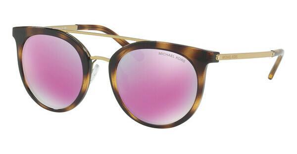 MICHAEL KORS Michael Kors Damen Sonnenbrille »ILA MK2056«, braun, 32704X - braun/rosa