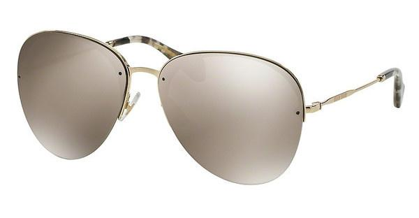Miu Miu MU 53PS ZVN1C0 LIGHT BROWN MIRROR GOLDPALE GOLD